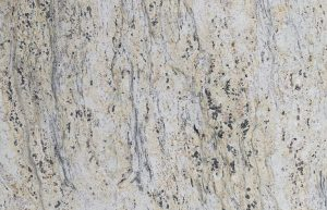 Rudi's Choice Granite - Antique White Granite is the equivalent of whitewashed wood, but in granite, with some beige and charcoal tones in the mix. While the colour white actually has more than 20 shades, Antique White has more of an off-white base. There is a lot of movement in this natural stone, but the lightness of the accent colours creates a soft, whimsical mood as the patterns form misty, cloud-like shapes. Should you need the patterning to travel in a particular direction, be sure to discuss yours needs with your fabricator so they can cut and install your slab accordingly.