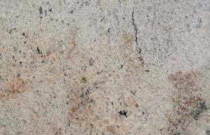 Rudi's Choice Granite - Ivory Fantasy. Cream, tan, beige and black are the predominant hues of Ivory Fantasy granite – an easy-on-the-eyes, contemporary granite surface suitable for hotels, commercial spaces and residential installations. The movement in this granite is more refined and relaxed, with clusters of patterning almost creating a relief map effect. Ivory Fantasy is ideal for anyone who admires the look of granite, but feels put off by patterning that can appear 'too busy'. Like all natural stone, granite tends to have natural cracks and fissures and can have pit marks in the surface. Check with your fabricator that the slab will be suitable for the project you're undertaking before going ahead with the slab cutting and installation.